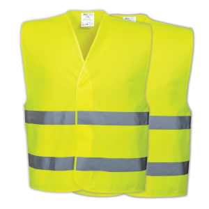 High Visibility Reflective Safety Vest (Twin Pack)